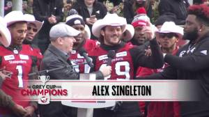 'We've had a lot of drinks out of the cup': Stampeders' Alex Singleton