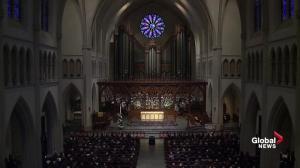 Bush funeral: Mourners sing 'America the Beautiful' at Texas memorial