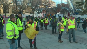 Edmonton rally against UN met with counter-protest