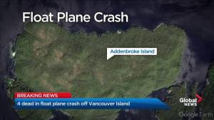 Four dead in float plane crash off Vancouver Island