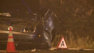 Head-on collision after driver loses control of vehicle