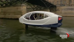Ground-breaking flying taxi cruises through Paris