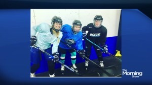 Carolyn MacKenzie goes to hockey school