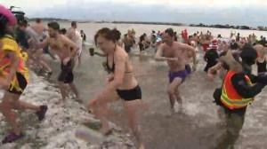 RAW: Torontonians get chilly at the annual Polar Bear Dip