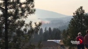 Peachland area wildfire being held at 3 hectares