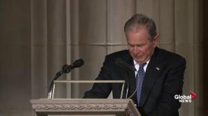 George W. Bush delivers eulogy for father George H.W.Bush