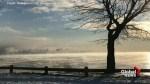'Sea Smoke' rises over Lake Superior as temperatures plunge