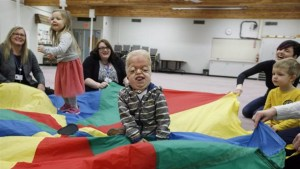 Alberta students eager to play with classmate born with rare illness