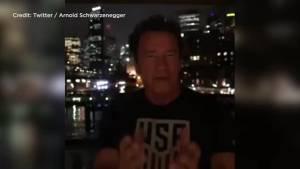 Arnold Schwarzenegger mocks Donald Trump over low approval ratings