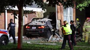 A car crashes into a house on Brock Street, but it's not the first time