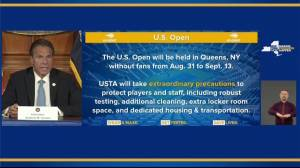 Coronavirus: U.S. Open to go ahead without fans, Cuomo says