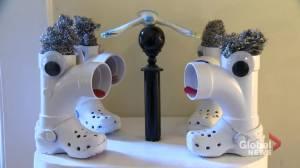 Montreal palliative care doctor transforms junk into art (02:11)