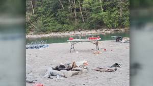 Long weekend campers leave behind big mess at remote Harrison River site