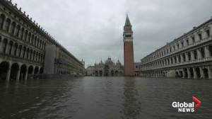 St. Mark's Square underwater as flood season begins in Venice