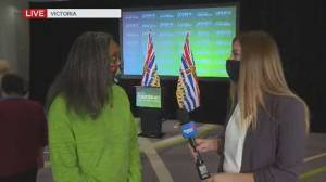 B.C. election 2020: How will the Green Party operate with an NDP majority? (03:04)