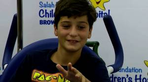 Canadian boy describes being bit by shark on vacation in Florida