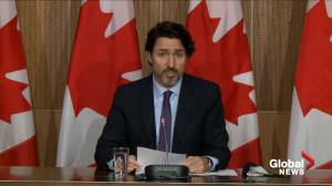 Trudeau says passengers arriving on non-direct flights from India will have to provide negative test before departure (00:55)