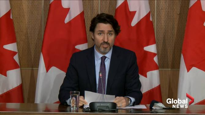 Click to play video: Trudeau says passengers arriving on non-direct flights from India will have to provide negative test before departure