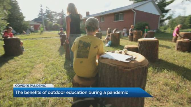 Click to play video: How outdoor education could provide a safe alternative to in-class learning