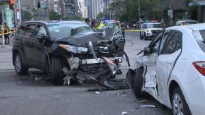 Downtown crash leaves 4, including child, in hospital