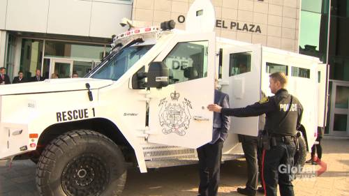 Saint John police adds armoured rescue vehicle to its fleet | Watch News Videos Online - Globalnews.ca
