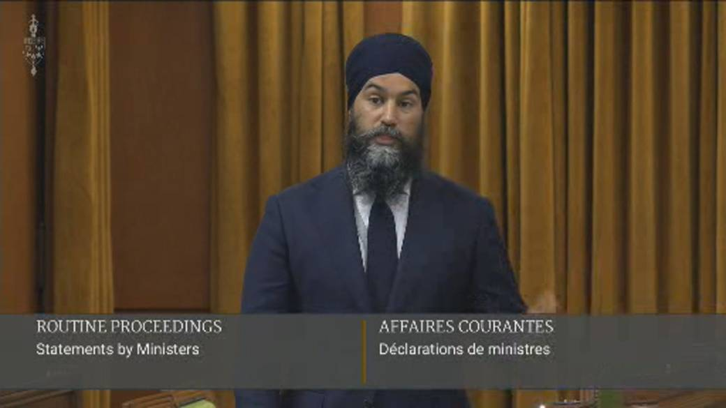 """Click to play video: '""""This is our Canada:"""" Jagmeet Singh speaks out after Muslim family killed, injured in London, Ont. attack'"""