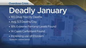 January was deadliest month yet in B.C. overdose crisis (00:48)
