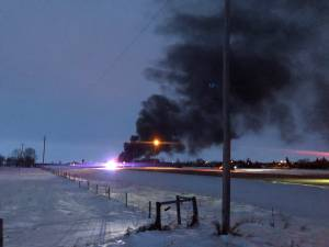 Train derails near Guernsey, southeast of Saskatoon