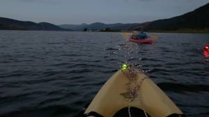 Endurance athlete attempting record swim of Okanagan Lake (01:43)