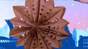 Holiday DIY: How to make paper bag snowflakes (04:08)