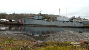 Coast guard begins work to secure derelict ship in Bridgewater