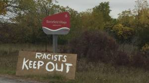 'Racists Keep Out': resident of 200-year-old village reacts to racist graffiti (01:50)