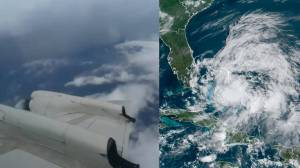 Hurricane Isaias: Storm chasers fly through storm as it surges through Caribbean