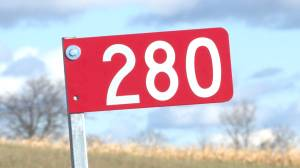 Prince Edward County gets it's first Farm 911 Emily Project sign