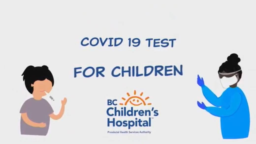 Click to play video 'Video helps B.C. kids understand COVID-19 tests'