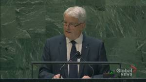 UNGA 2021: Cost of isolationism will be 'catastrophic' and lead to rising inequality, Garneau says (01:16)
