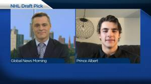 Prince Albert-born player on being picked in 1st round of NHL draft (03:49)