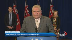 Premier Doug Ford criticized for visiting cottage