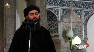 Video released shows initial strikes on Baghdadi compound