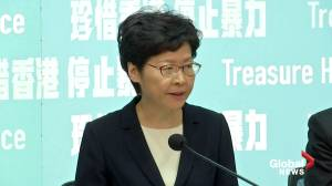 Carrie Lam announces face mask ban to counter Hong Kong protests
