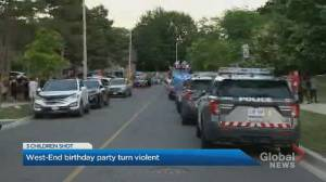 3 children, 2 adults injured after shooting at toddler's birthday party in west-end Toronto (01:15)