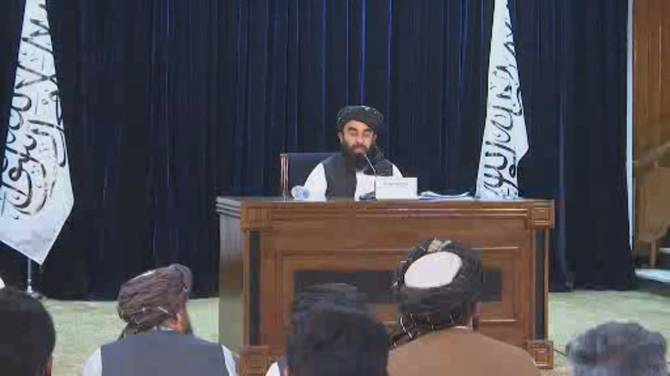 Click to play video: Taliban announces Afghanistan's new hardline interim government