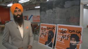 'Unfortunate, hurtful' racist graffiti seen on Calgary Skyview candidate's election signs