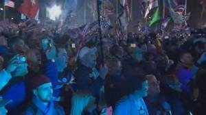 U.K. celebrates in London as the clock hits Brexit hour for leaving the EU