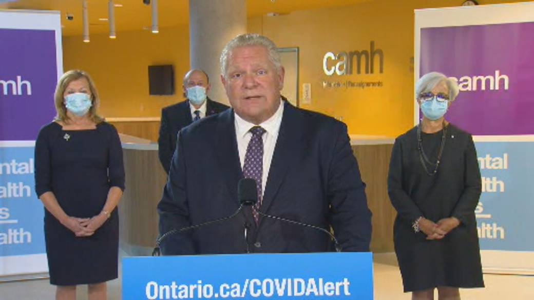 Click to play video 'Coronavirus: Premier Doug Ford clarifies Thanksgiving guidance, says to limit time to only your household'
