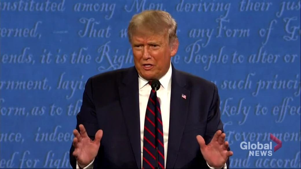 Click to play video 'US Presidential debate: Trump calls for supporters to 'watch' polls;Biden says he'll accept outcome of election'