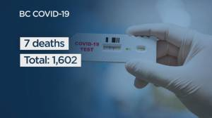 B.C. report 772 new COVID-19 cases, as province's death total passes 1,600 (04:40)