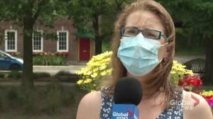 Reacting to  mandatory masks in Northumberland County