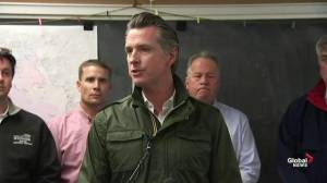 California governor provides update on conditions of wildfires