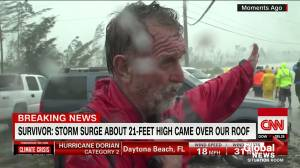 Man watches wife drown in the wake of Hurricane Dorian